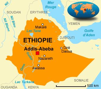Carte de l'Étthiopie