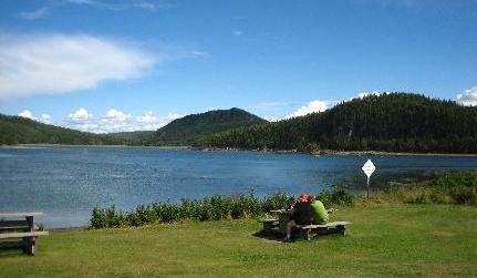 camper au quebec - parc national du bic (canada)