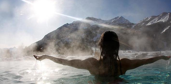 Source eau chaude Alpes