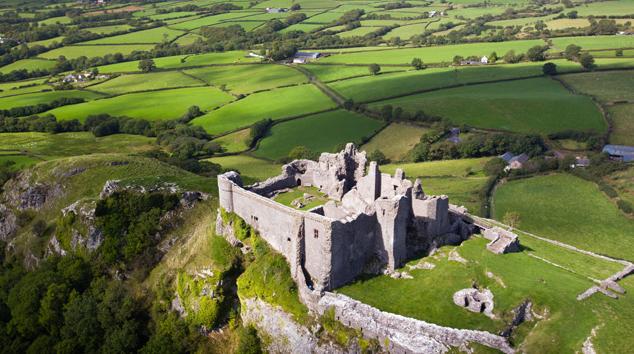 Le Carreg Cennen Castle, vu du ciel
